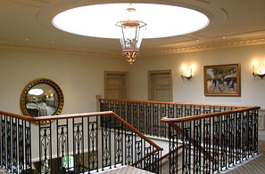 Queenwood club house - panelled furniture finishes
