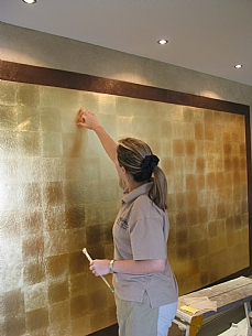 Gold Leaf Walling